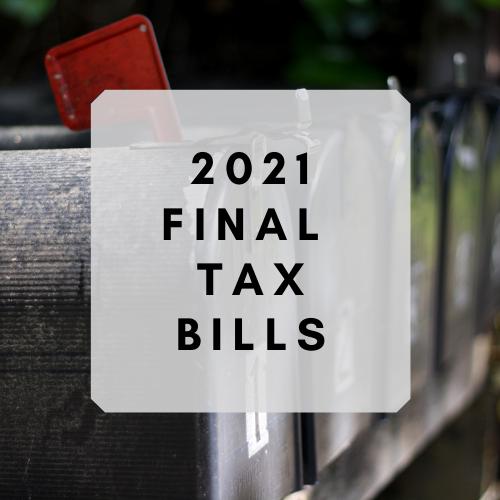 Photo of mailbox with 2021 final tax bills text